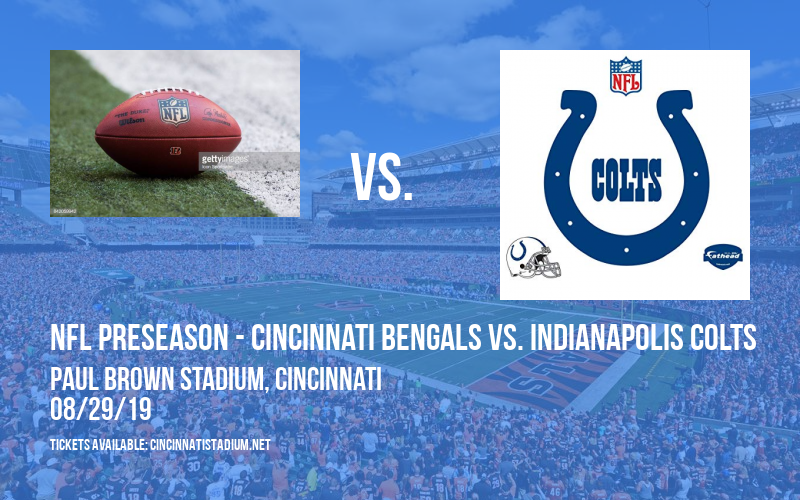 PARKING: NFL Preseason - Cincinnati Bengals vs. Indianapolis Colts at Paul Brown Stadium