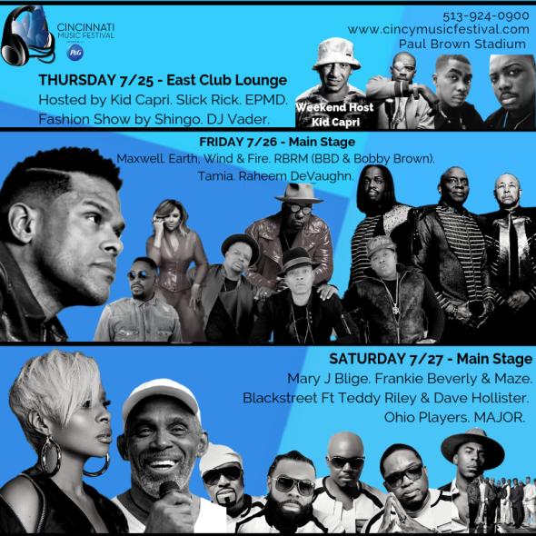 Cincinnati Music Festival - Saturday at Paul Brown Stadium